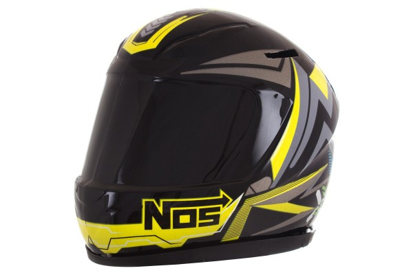 CAPACETE MINI COFRE PRO TORK NOS ABSTRACT PRETO/AMARELO